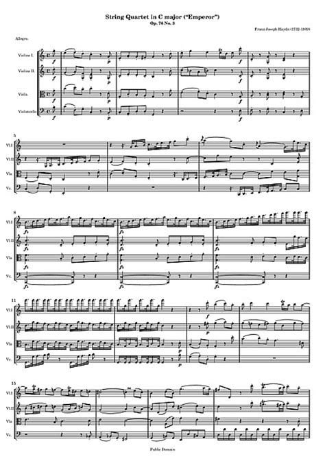 Quartet No. 62 Full score - 현악 사중주, 바이올린, 바이올린, 비올라, 첼로