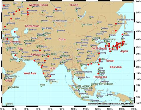 asia map atlas roadtechs world atlas of nuclear power plants