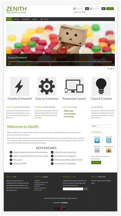 template joomla zenith themexpert zenith v1 4 0 universal template for joomla