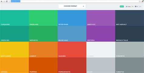 color template responsive color palette tool flatuicolors powerpoint