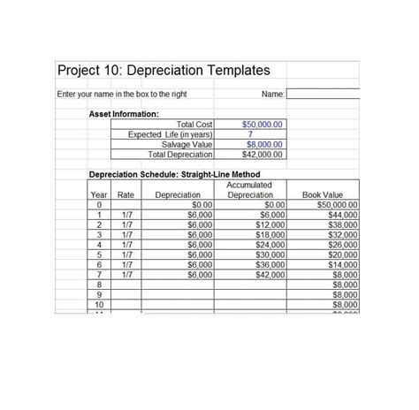35 Depreciation Schedule Templates For Rental Property Car Asserts Depreciation Schedule Template