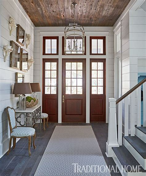 hallway with pecky cypress ceiling cottage entrance foyer 293 best images about fab foyers on pinterest house of