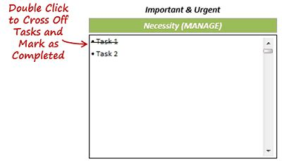 prioritize tasks be productive task matrix excel template