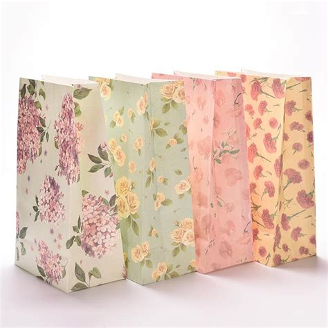 pcslot flower printing paper bags gift bags christmas