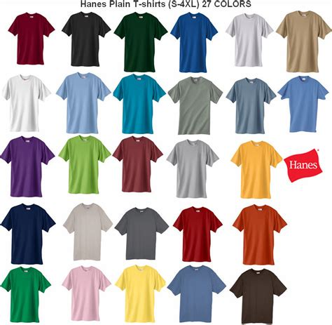 hanes colored t shirts hanes comfortblend plain basic sleeve t shirt
