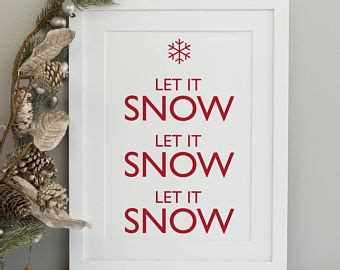 Yum Market Finds Let It Snow by Print Etsy