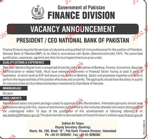 loan from national bank of pakistan president ceo national bank of pakistan in finance
