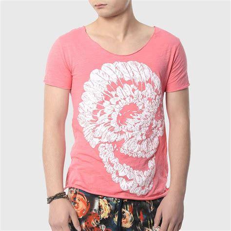 Tshirt Mancing 9 skull t shirt print t shirt v neck fashion cotton design hip hop top in t