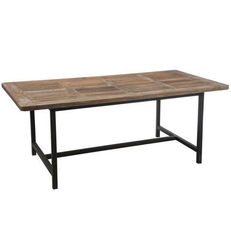 table bois et metal salle manger table 224 manger plateau bois et pieds m 233 tal noir 200x100cm