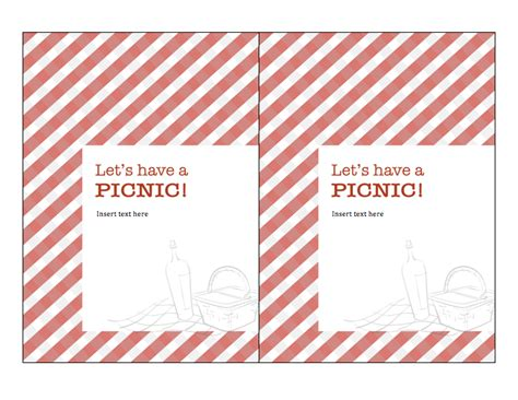 picnic invitation template blank picnic invitation templates