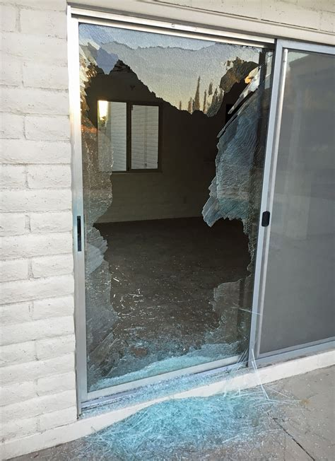 broken glass repair door broken garage door