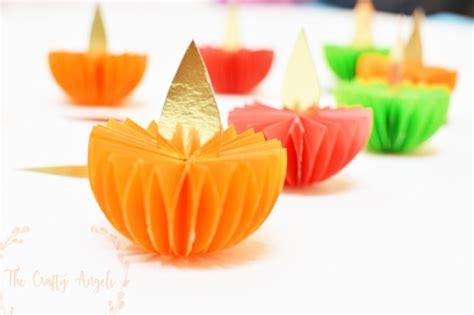 Make Paper Kandil Diwali - diwali craft paper diya tutorial the crafty