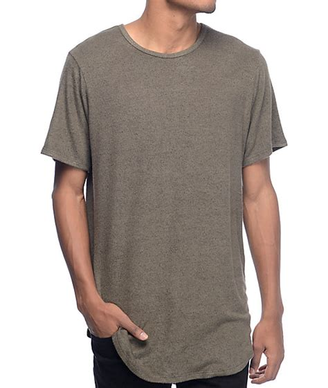 Pdp T Shirt rustic dime olive black elongated t shirt at
