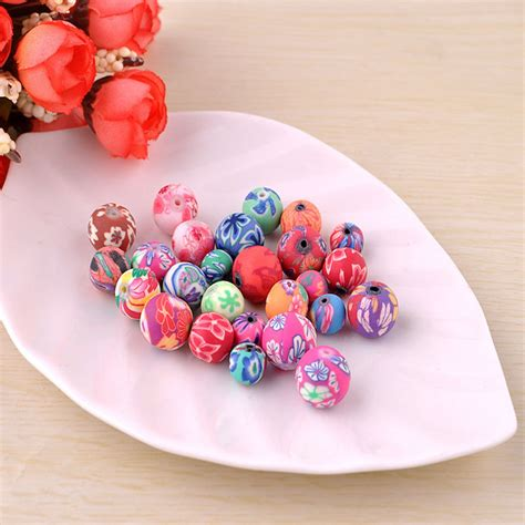 clay to make jewelry 100pcs 8mm mix fimo polymer clay spacer diy