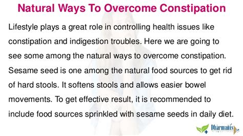 ways to overcome constipation and get rid of