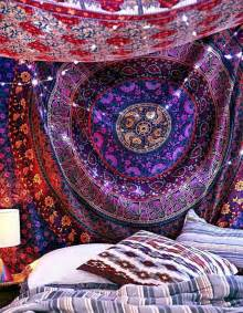 trippy bedroom decor hippie indian mandala tapestry psychedelic tapestries boho