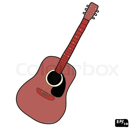 doodle guitar acoustic guitar doodle stock vector colourbox