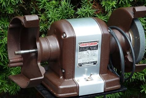 vintage craftsman bench grinder photo index sears craftsman 115 7566 bench grinder 1