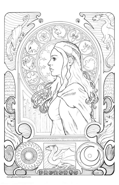 game  thrones coloring book google search coloring