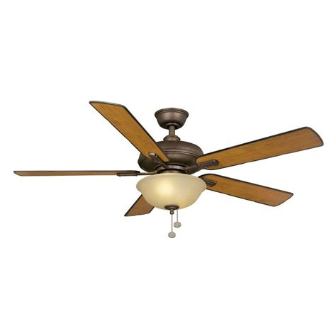 Alabama Ceiling Fans by Hton Bay Larson 52 In Indoor Rubbed Bronze Ceiling