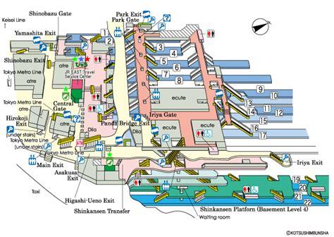 jr eastguide maps  major stations ueno station