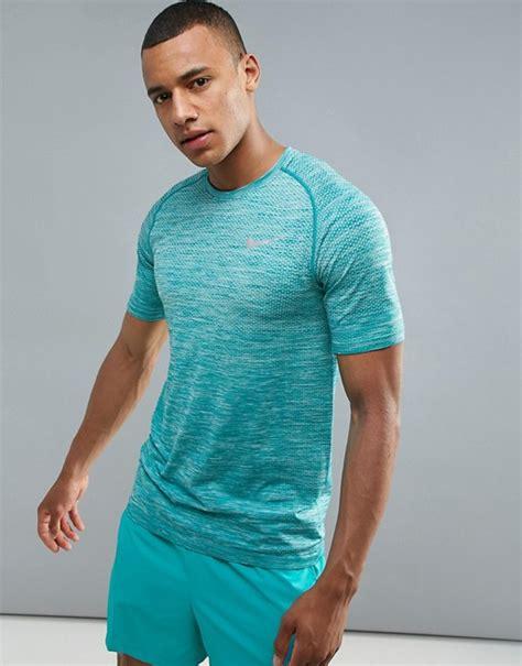 nike running nike running dri fit knit t shirt in blue