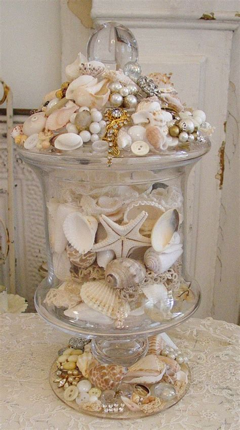 decorating with seashells in a bathroom 257 best glass apothecary jars images on pinterest