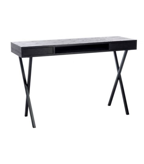 metal and wood desk with drawers design desk black wood and metal with 2 drawers jline