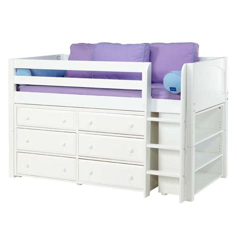 bunk bed with dresser box low loft bed with dressers and bookcase