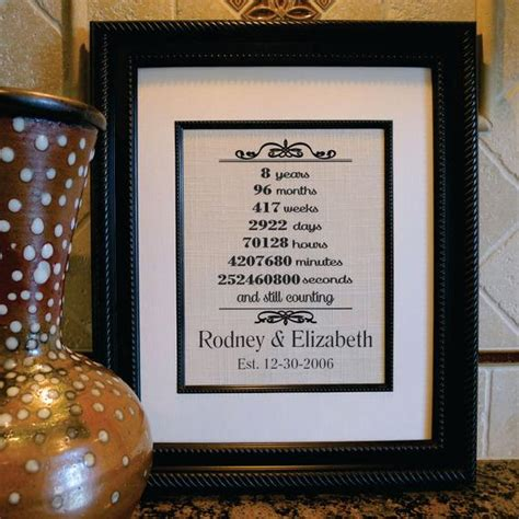 items similar to 8th wedding anniversary eight years married marriage timeline husband