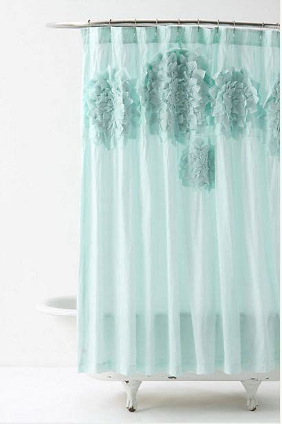 anthro shower curtain anthropologie sculpted mums shower curtain nip appliqued