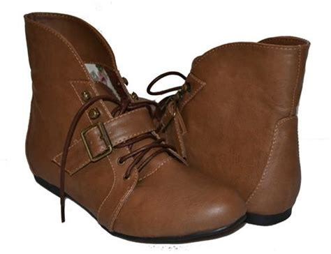 womens light brown ankle boots booties lace up belt