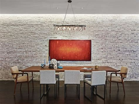 Whitewash Interior Brick Wall by 50 Bold And Inventive Dining Rooms With Brick Walls
