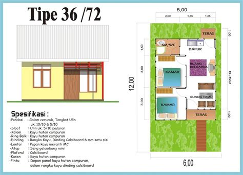 desain rumah minimalis type 36 spesifikasi dan denah rumah minimalis type 36 72 desain