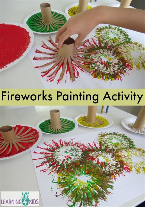 fireworks crafts painting fireworks learning 4