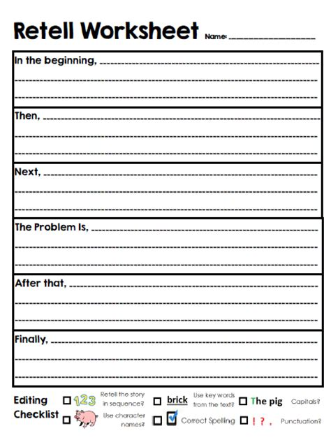 retell new year story 2nd grade ms schmidt retell worksheet