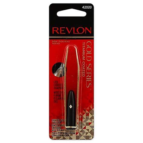 revlon gold series lighted tweezer buy revlon gold series titanium coated lighted slant