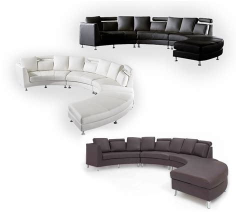 White Leather Circular Sectional by White Leather Sofa Cfxq
