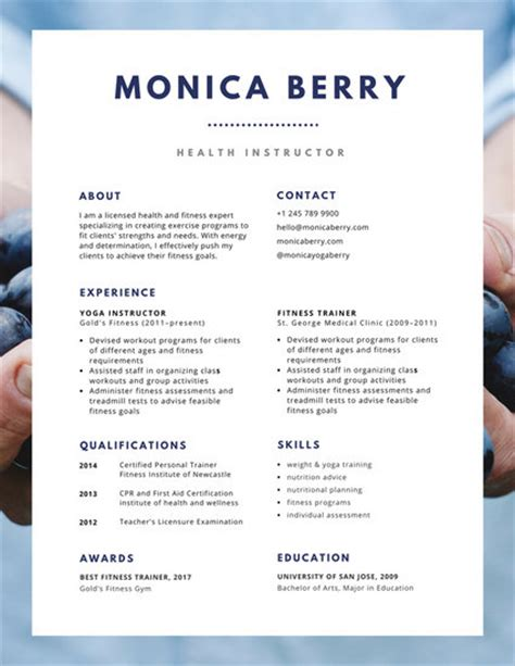 Borders For Resume Resume Template With Border