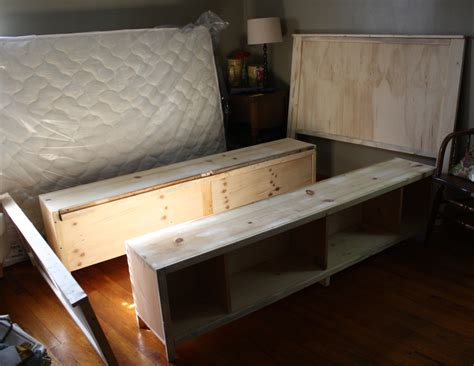diy full bed frame ana white full size hailey storage bed diy projects