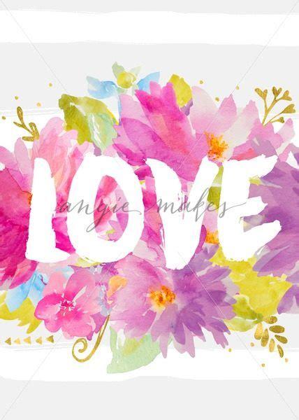 printable watercolor flowers cute love art print with watercolor flowers printable