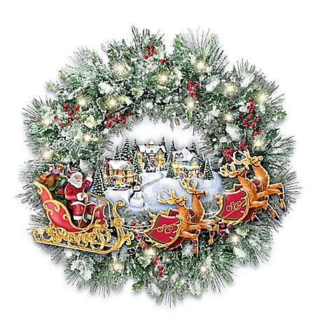 search result for quot thomas kinkade spring village wreath