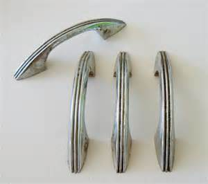 Vintage Kitchen Cabinet Knobs Sale Retro Chrome Kitchen Cabinet Hardware 50s Vintage Style