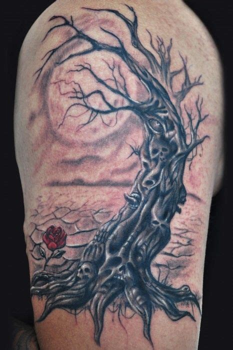 scary tree tattoo designs tree tattoos designs ideas meanings and photos i