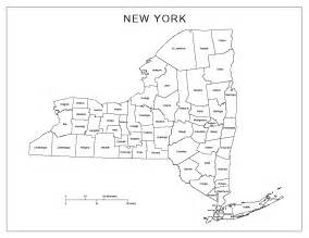 New York County Map by New York Labeled Map