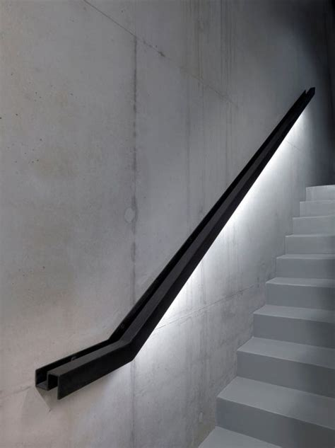 banister rails metal 30 stylish staircase handrail ideas to get inspired digsdigs