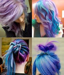 different color hairstyles blue and violet ombre hair color you can try out in 2013