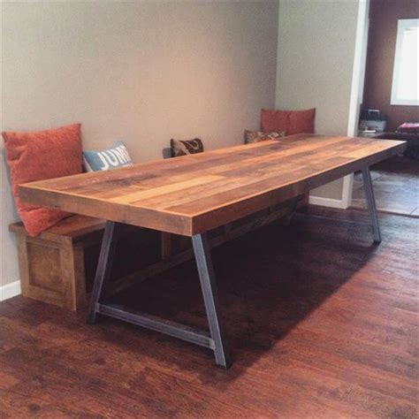 Diy Conference Table Diy Industrial Pallet Conference Table Pallets Industrial And Tables