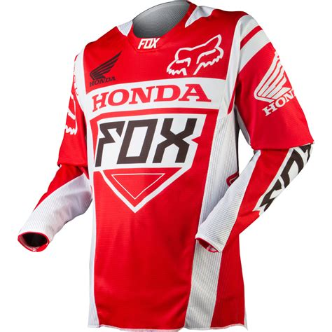 fox honda motocross gear apparel fox racing off road jerseys men 360 honda red jpg