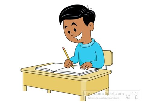 student at desk clipart student writing clipart clipartsgram